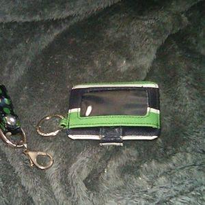 Vera Bradley key fob and key Id holder
